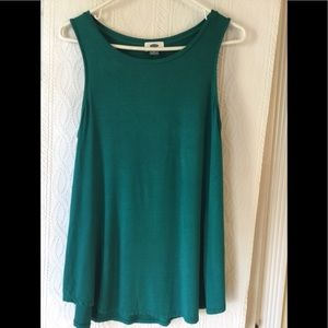 Old Navy teal green top